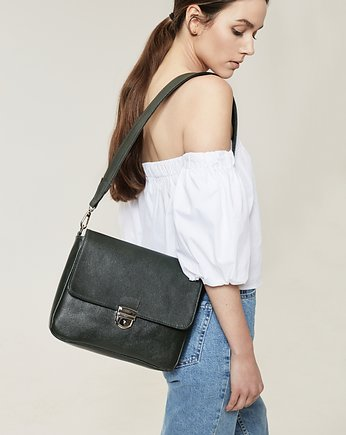 Office style, FLAP BAG Black