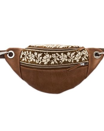 Floral Escape, bumbag brown