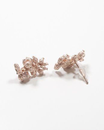 Pani Bukiet, Pink Gold Flower Earings