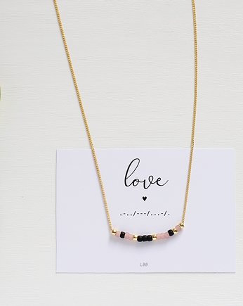 lebohobleu, LOVE Morse Code Necklace