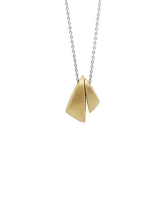 matowy, BLOW double  / brass necklace