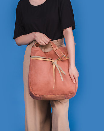 SIMPLY BAG - duża torba worek - terracotta