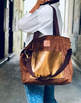 Torba Mili Chic MC6 brązzłoto torby na ramię damskie