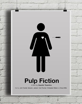 kino, Pulp Fiction - plakat