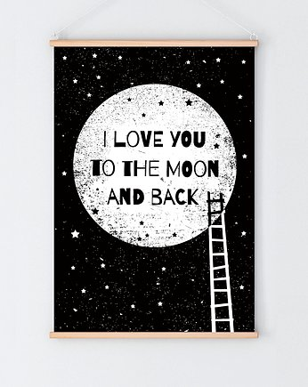 milostudio, To the moon and back  black