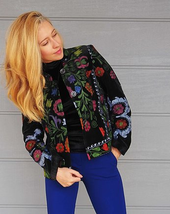 sultanaS, Black embroidery jacket R M/L
