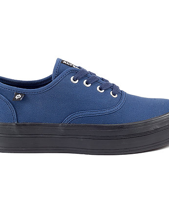 navy, ALTERCORE 450 Low Navy trampki na platformie