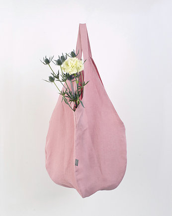 PROUDLY DESIGNED, LINEN BAG - Różowa