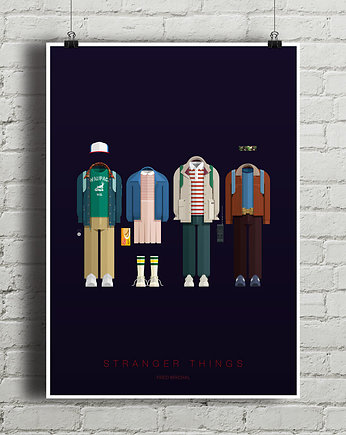minimalmill, Stranger Things - plakat giclee art
