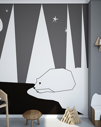 humptydumptyroomdecoration, Tapeta  dziecięca  Mural Polar Bear