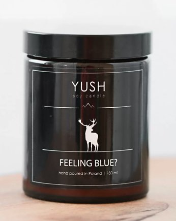 yush, Świeca sojowa FEELING BLUE? 180 ml -YUSH-