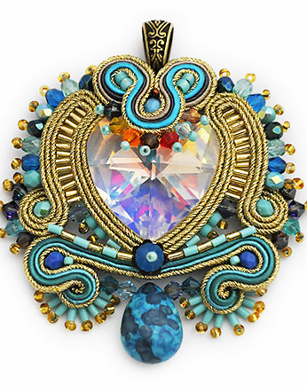 wisior sutasz, Heart in soutache