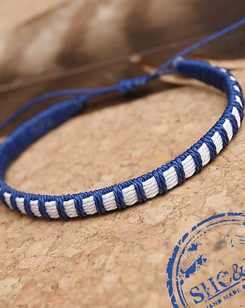 Strap - navy blue/white