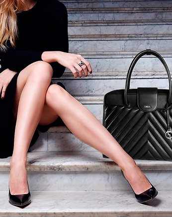 torby, TORBA na laptopa QUILTED BLACK