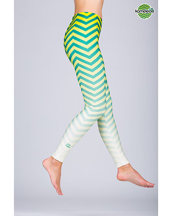 travel, Legginsy Ziko Zakoo High - Green