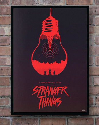 minimalmill, Stranger Things - plakat