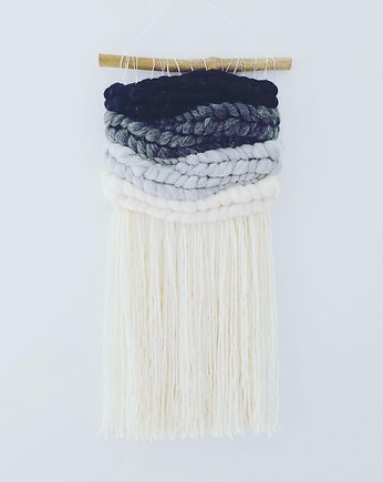 wool and stick, Makatka Makrama Szare Ombre