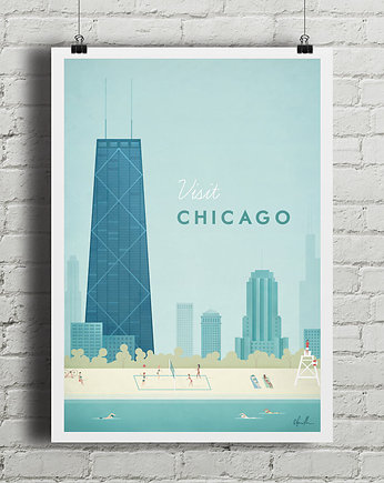 travel, Chicago - vintage plakat