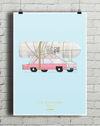 kino, The Sipmsons - Pink Car - plakat A2