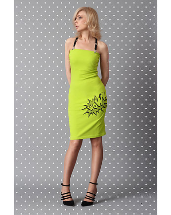 "Sukienka POP-DRESS ""WOW"" lemonka"
