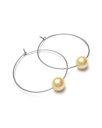 KiKa pracownia, Alloys Collection /one pearl/ yellow