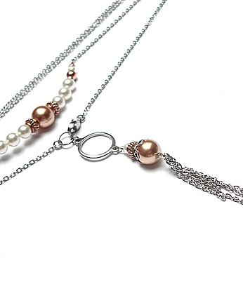 KiKa pracownia, Alloys Collection - pearls /copper/ - naszyjnik