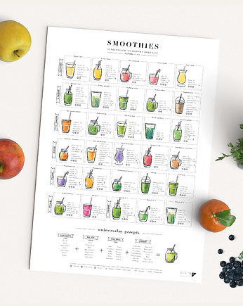 do kuchni, Smoothies - plakat