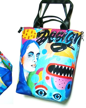 1799 art MIMA bag UNI & Marcin Painta print