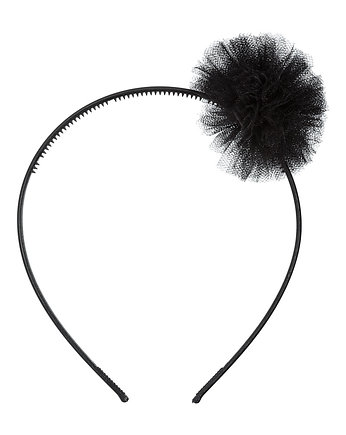 Karnawałowy kinderbal , Headband Black PomPon