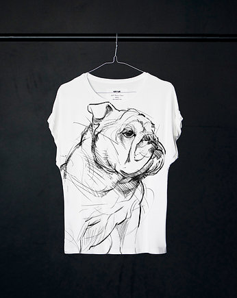 Bulldog t-shirt woman