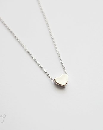 Rhodium Plated Heart Necklace