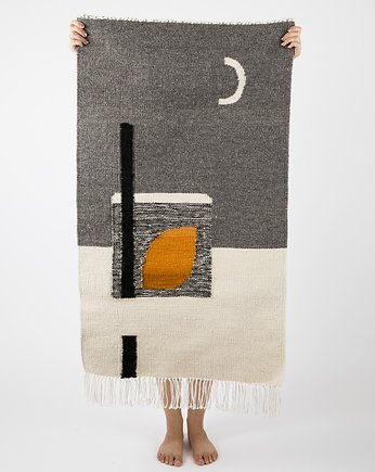 Tartaruga studio, MOONLIGHT gray| kilim 70x120