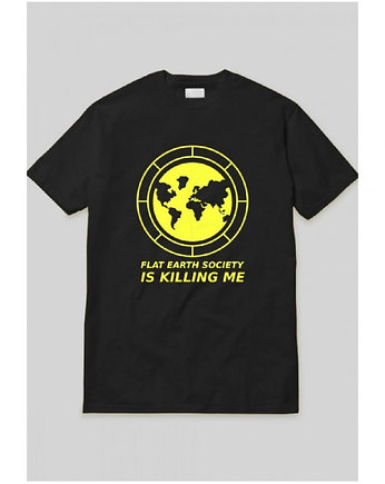 Flat Earth Black Tee