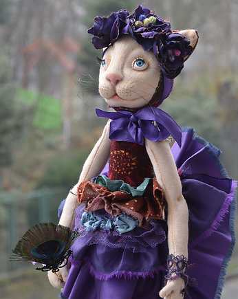 Anna Szkudlarska unique dolls, Mrs Catty OAK doll