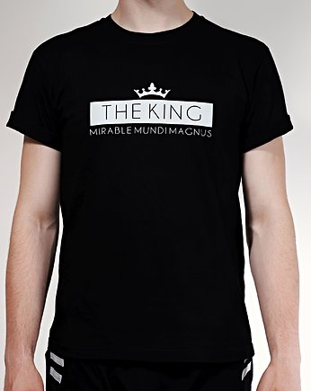 Biały t-shirt THE KING