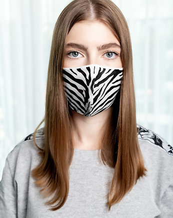 black, Zebra Mask