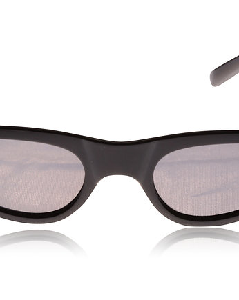 Czarne okulary Slim Cat Eye