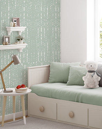 humptydumptyroomdecoration, Tapeta dziecięca Green Wool