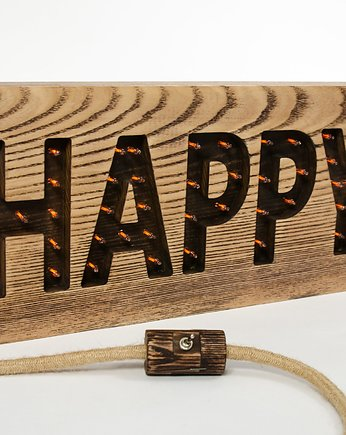 Lampa z napisem - HAPPY