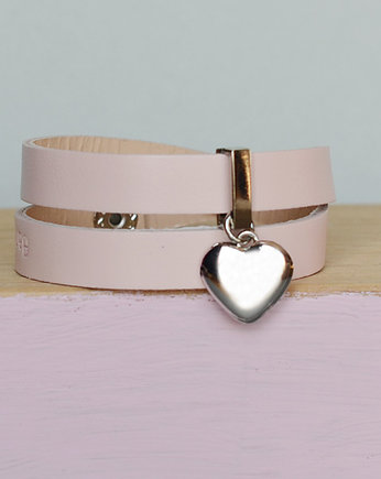 pink heart silver