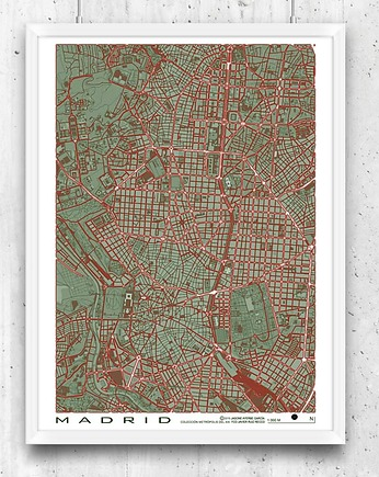 Madrid - plan miasta, plakat