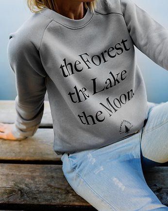 Bluza unisex THE FOREST THE LAKE THE MOON