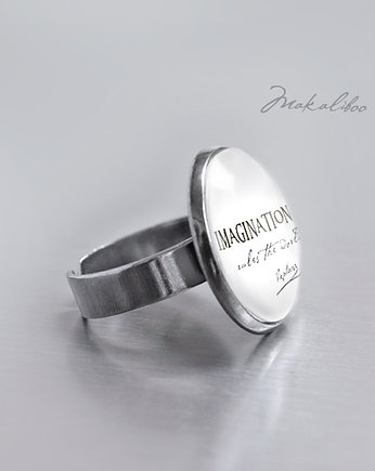 Imagination rules the world- simple ring
