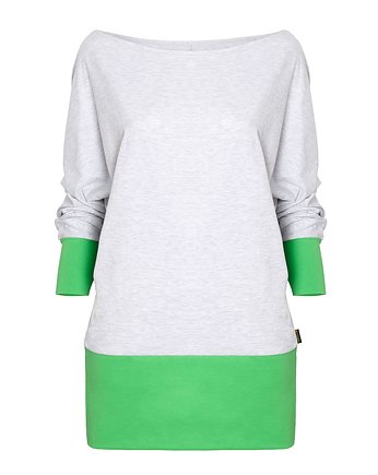 odczapy, Bluzka oversize BAT grey & green
