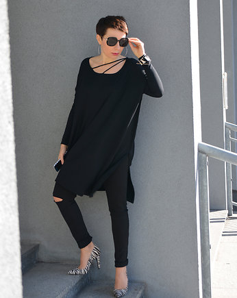 momo fashion, TUNIKA OVERSIZE black