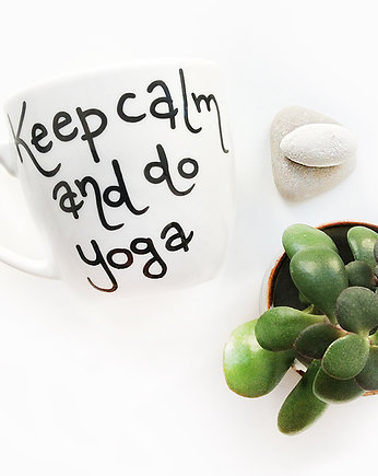 joga, Keep Calm and Do Yoga - kubek 300ml Miamilu