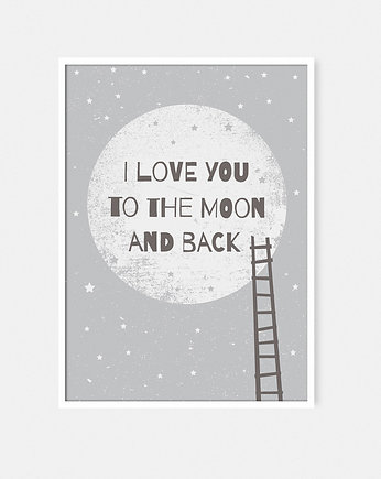 Trendy 2017/18: Kosmos, I love you to the moon and back GRAY | A4