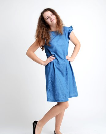 jeans, Ruffle Dress