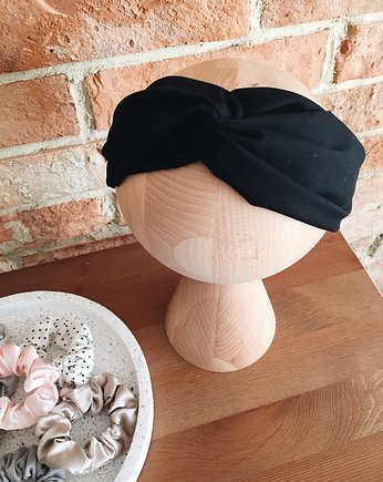 All Black Headband - Opaska