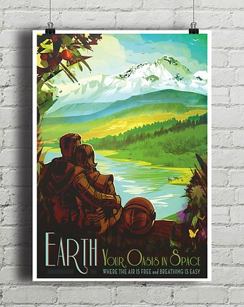 kino, Earth - vintage plakat